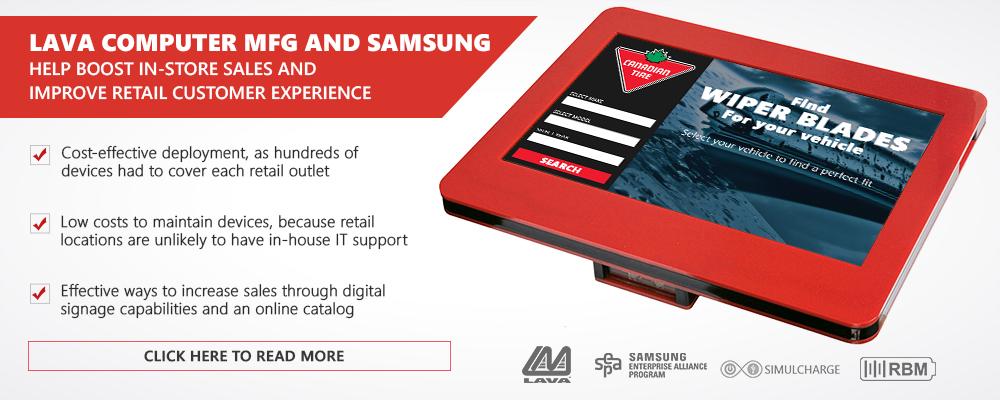 LAVA SIMULCHARGE®-RBM Tablet Kiosk