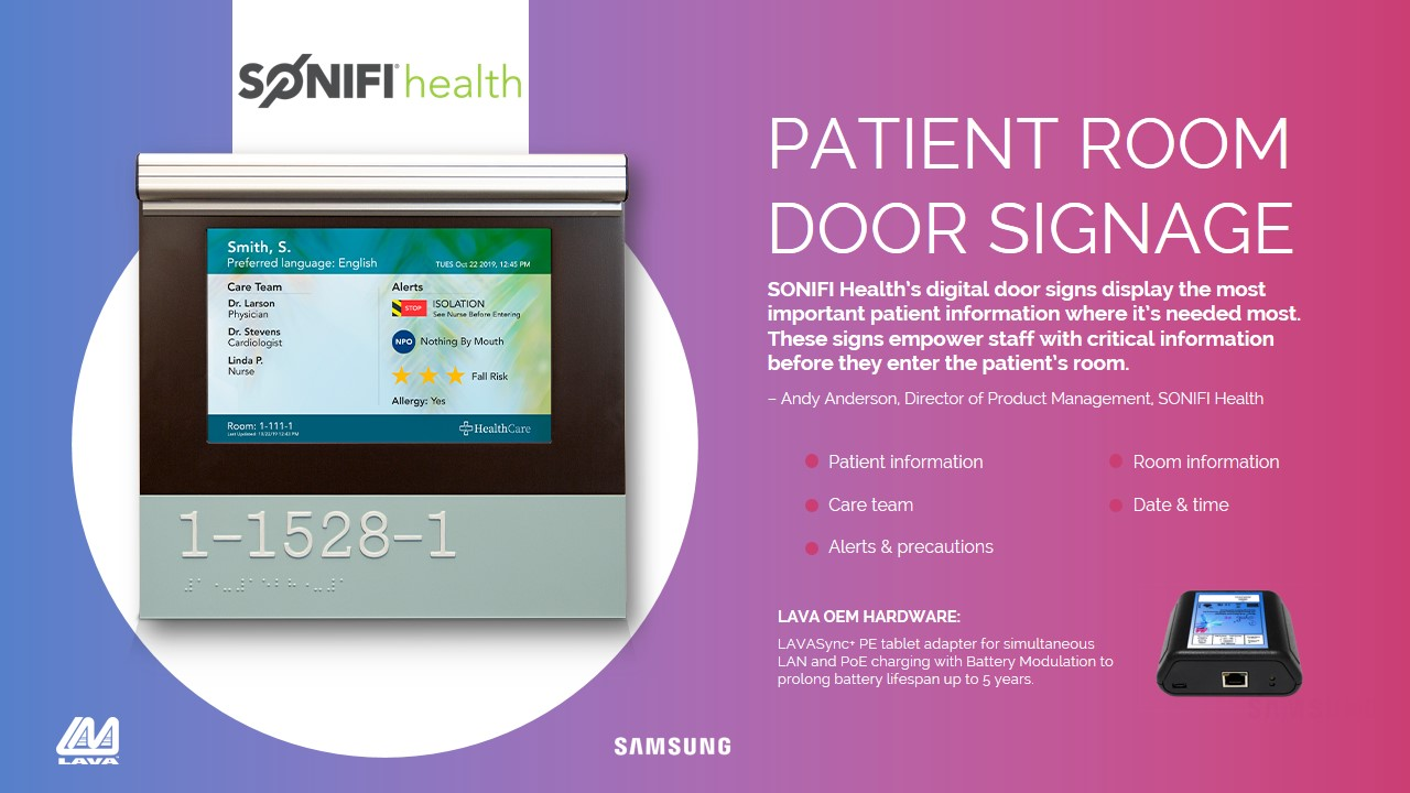 SONIFY Health Digital Door Sign